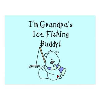 Grandpa's Ice Fishing Buddy Tshirts and Gifts Postcard