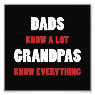 Grandpas Know Everything Photo Print