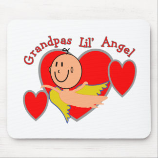 """""""Grandpas Lil' Angel"""" T-Shirts & Gifts All Ages Mouse Pad"""