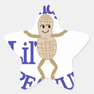 Grandpa's Lil' Peanut Star Sticker