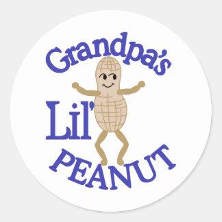 Grandpa's Lil' Peanut Classic Round Sticker