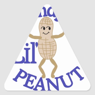 Grandpa's Lil' Peanut Triangle Sticker