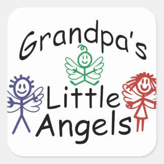 Grandpas Little Angels Square Sticker