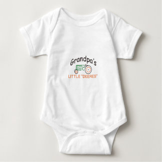 Grandpas Little Deeres Baby Bodysuit