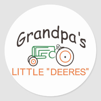 Grandpas Little Deeres Classic Round Sticker