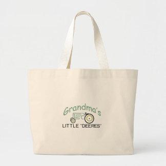 Grandpas Little Deeres Large Tote Bag