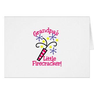 Grandpas Little Firecracker Card