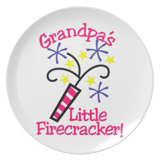 Grandpas Little Firecracker Dinner Plate