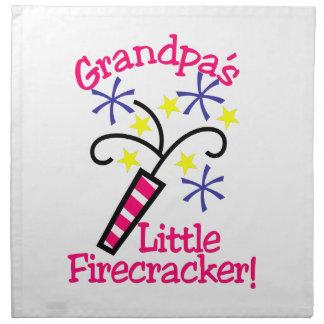 Grandpas Little Firecracker Napkin