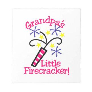 Grandpas Little Firecracker Notepad