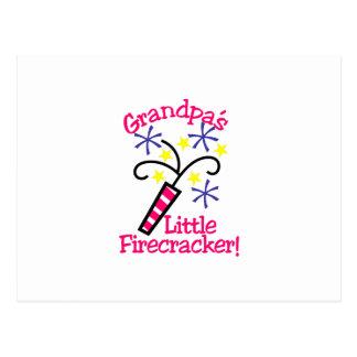 Grandpas Little Firecracker Postcard
