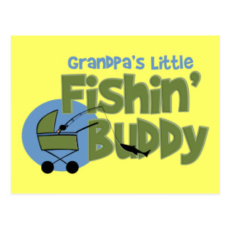 Grandpa's Little Fishin' Buddy Postcard