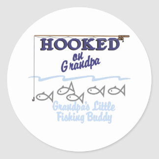 Grandpas Little Fishing Buddy Classic Round Sticker