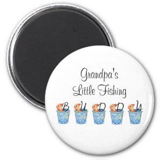 Grandpa's Little Fishing Buddy Magnet