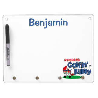 Grandpa's Little Golfin' Buddy Dry Erase Board With Keychain Holder