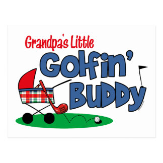 Grandpa's Little Golfin' Buddy Postcard