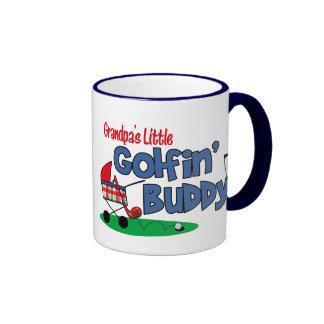 Grandpa's Little Golfin' Buddy Ringer Mug