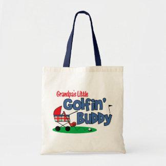 Grandpa's Little Golfin' Buddy Tote Bags