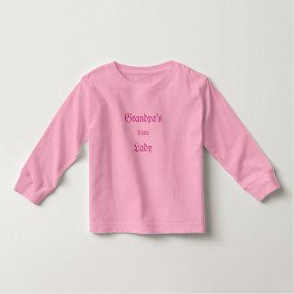 Grandpa's Little Lady Kids Shirt