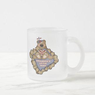Grandpa's Little Man Frosted Glass Coffee Mug