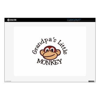 "Grandpa's Little Monkey 15"" Laptop Decal"