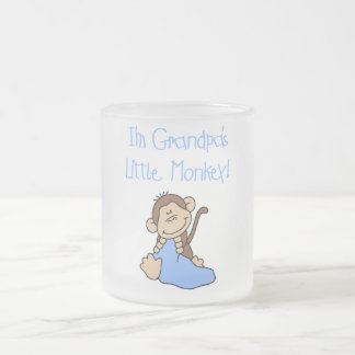 Grandpa's Little Monkey - Blue Tshirts and Gifts Frosted Glass Coffee Mug