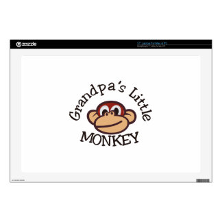 """Grandpa's Little Monkey Decals For 17"""" Laptops"""