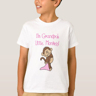 Grandpa's Little Monkey -Pink Tshirts and Gifts