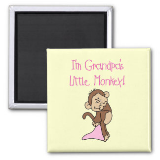 Grandpa's Little Monkey -Pink Tshirts and Gifts Magnet