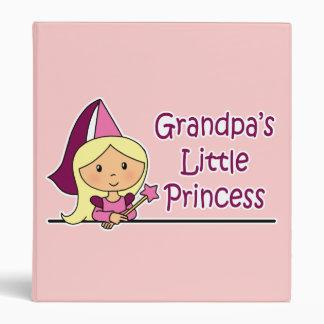 Grandpa's Little Princess 3 Ring Binder