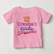 Grandpa's Little Princess Baby Toddler T-Shirt