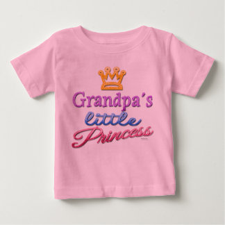 Grandpa's Little Princess Baby Toddler T-Shirt