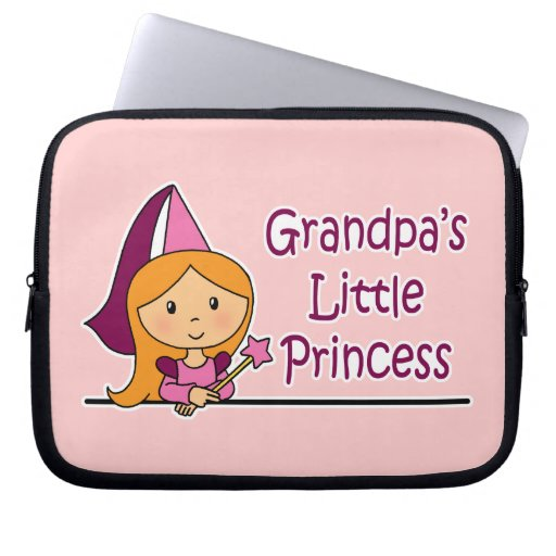 Grandpa's Little Princess Computer Sleeve