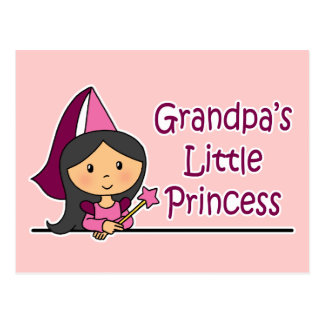 Grandpa's Little Princess Postcard