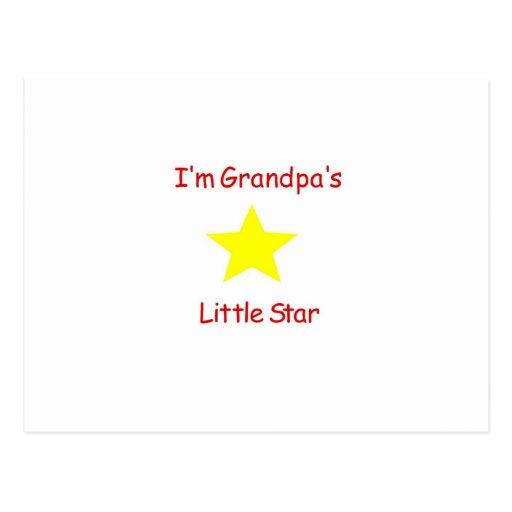 Grandpa's Little Star Post Card