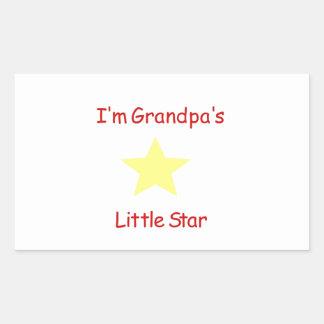 Grandpa's Little Star Rectangular Sticker