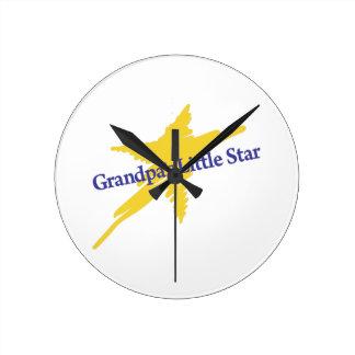 Grandpas Little Star Round Clock