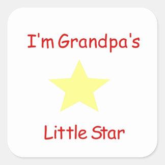 Grandpa's Little Star Square Sticker