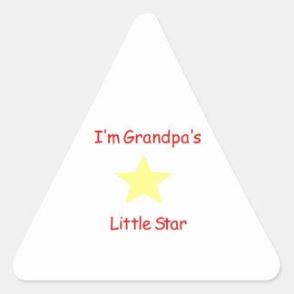 Grandpa's Little Star Triangle Sticker