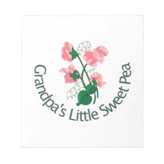 Grandpas Little Sweet Pea Scratch Pad