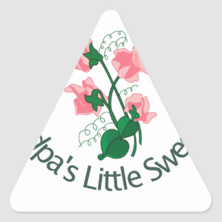 Grandpas Little Sweet Pea Triangle Sticker