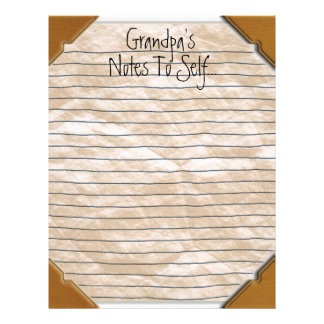 Grandpa's Notes To Self Stationery Letterhead