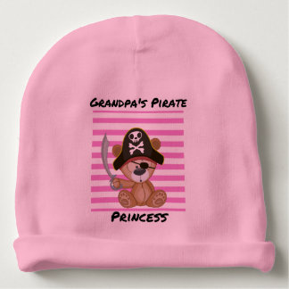 Grandpa's Pirate Princess Baby Cotton Beanie