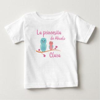 Grandpa's Princess Spanish Baby T-Shirt