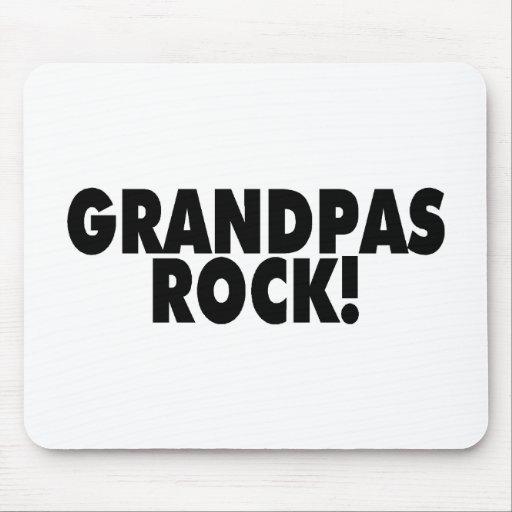 Grandpas Rock Black Mouse Pad