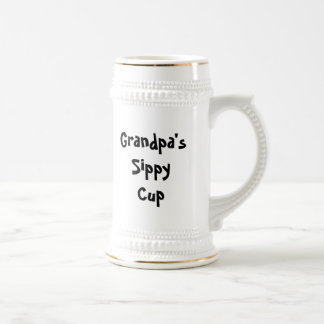 Grandpa's Sippy Cup (customizable) 18 Oz Beer Stein
