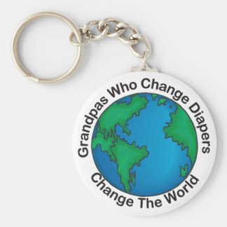Grandpas That Change Diapers... Key Chains Keychain