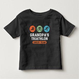 Grandpa's Triathlon Cheer Team Toddler T-shirt