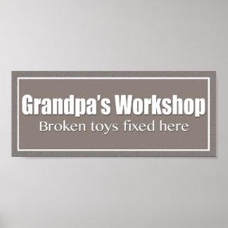 Grandpa's Workshop Poster