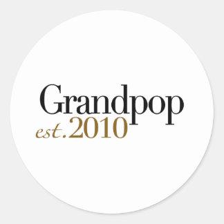 Grandpop Est 2010 Etiqueta Redonda